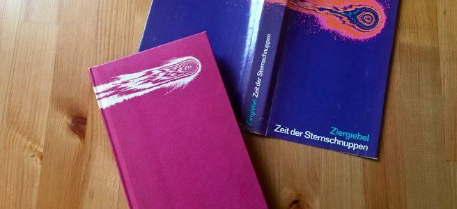 Zeit der Sternschnuppen - Buchcover - Herbert Ziergiebel - Mit einer Farb-Äquidensitometrie des Kometen Wipple-Fedtke von W. Högner vom Karl-Schwarzschild-Observatorium, Tautenburg bei Jena