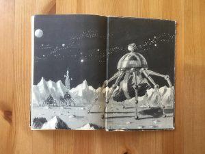 Ein Stern fliegt vorbei - Buchinnenseite hinten - Karl-Heinz Tuschel, Illustration: Hans Räde