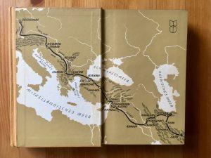 Ich radle um die Welt - Heinz Helfgen - Innenseite Reiseroute Teil 1