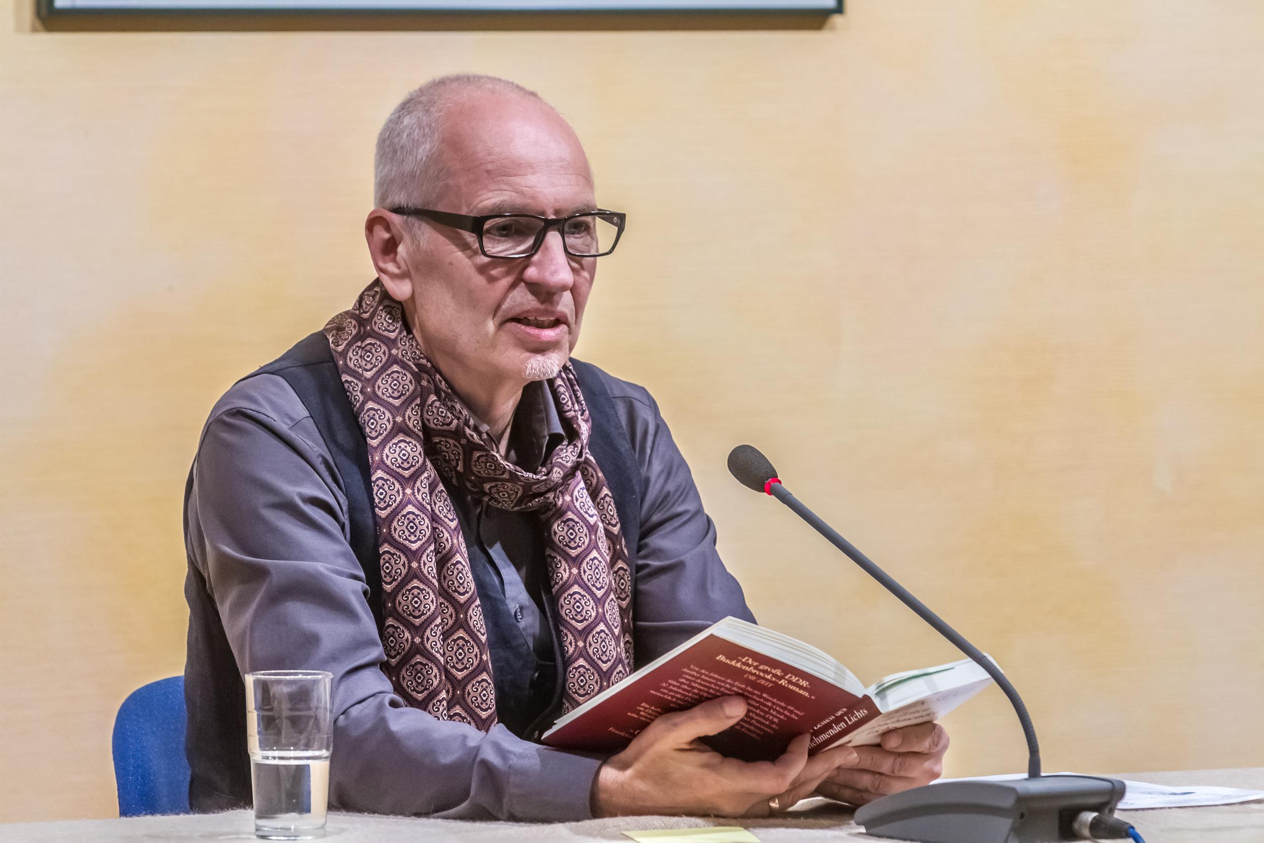 Eugen Ruge liest in Wittenberg. Foto: Baumbach
